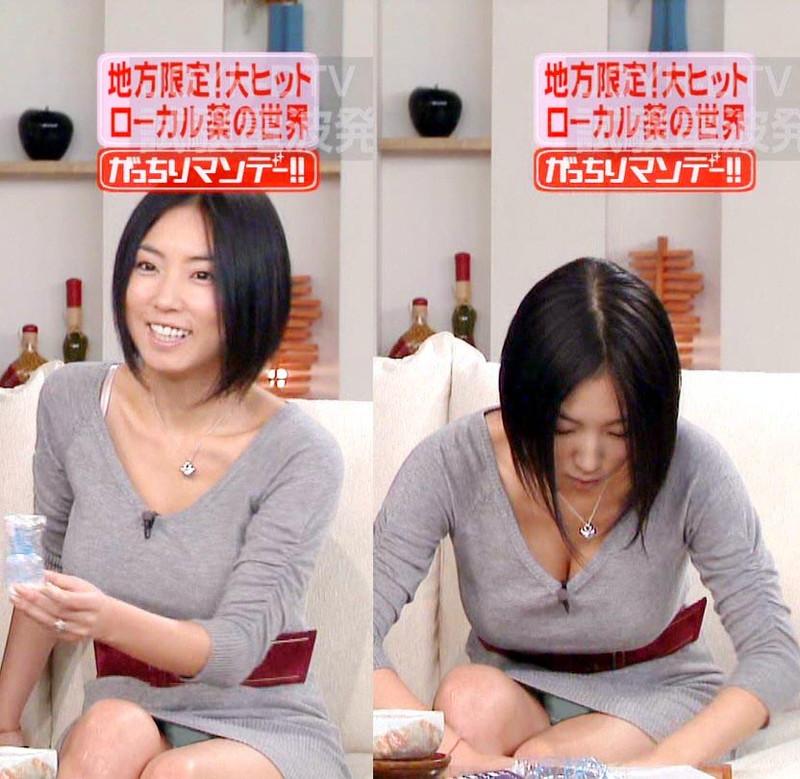 【放送事故胸チラ画像】地上波放送中に起こった芸能人ハプニング胸チラ画像 38