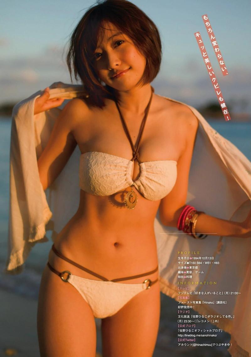 【佐野ひなこグラビア画像】多様な才能を持つFカップ巨乳グラドルの水着画像 60