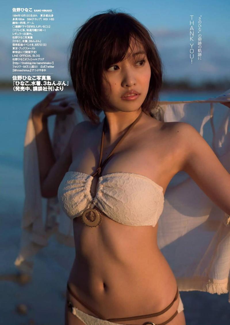 【佐野ひなこグラビア画像】多様な才能を持つFカップ巨乳グラドルの水着画像 63