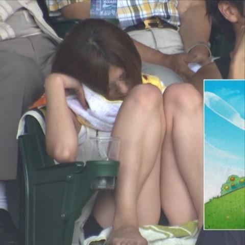 【ハプニングパンチラ画像】ひな壇タレントと素人娘のハプニンパンチラ画像 09