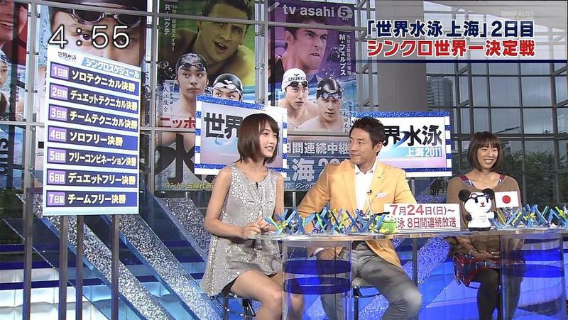 【女性タレント生足画像】短いスカートで生足をテレビで見せつけるタレント画像 77
