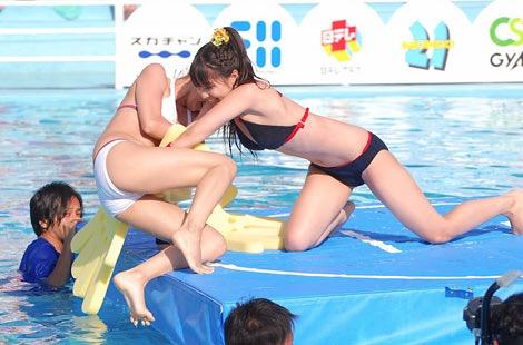 【アイドル水泳大会】昭和から平成までポロリもあった水泳大会画像 34