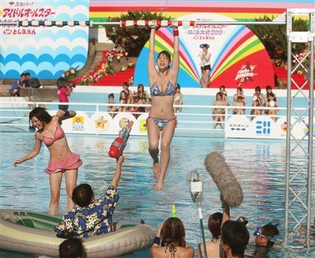 【アイドル水泳大会】昭和から平成までポロリもあった水泳大会画像 74