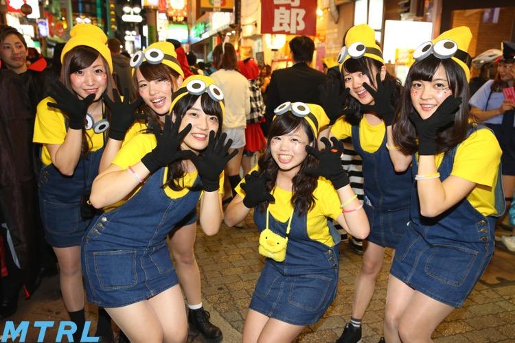 【ハロウィンコスプレ画像】渋谷に集まるギャル達の凝った様々な衣装がエロい! 37