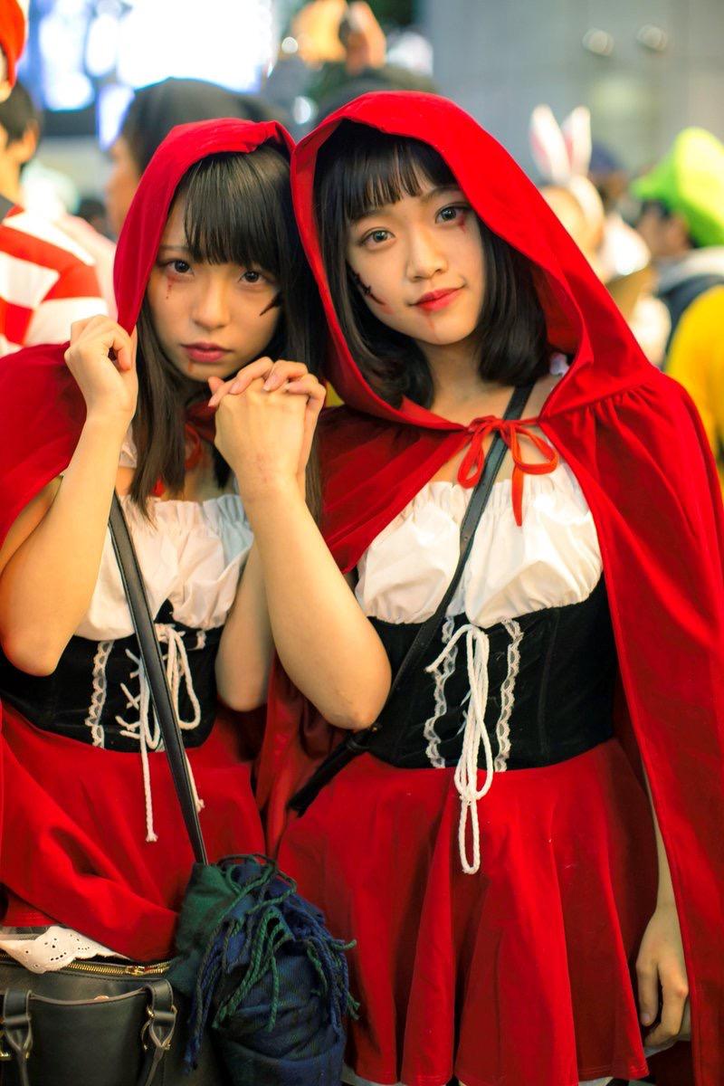 【ハロウィンコスプレ画像】渋谷に集まるギャル達の凝った様々な衣装がエロい! 47