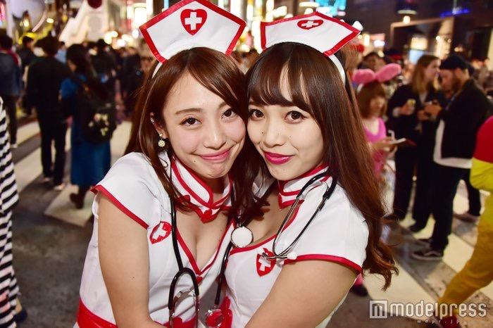 【ハロウィンコスプレ画像】渋谷に集まるギャル達の凝った様々な衣装がエロい! 52