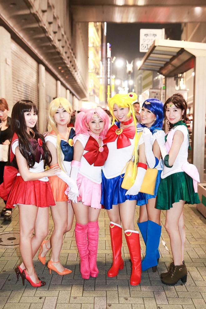 【ハロウィンコスプレ画像】渋谷に集まるギャル達の凝った様々な衣装がエロい! 55