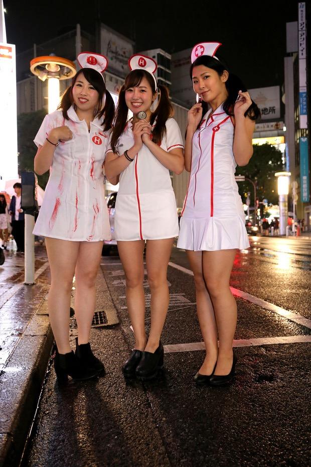 【ハロウィンコスプレ画像】渋谷に集まるギャル達の凝った様々な衣装がエロい! 64