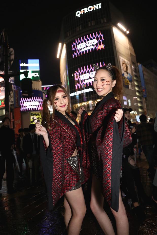 【ハロウィンコスプレ画像】渋谷に集まるギャル達の凝った様々な衣装がエロい! 66
