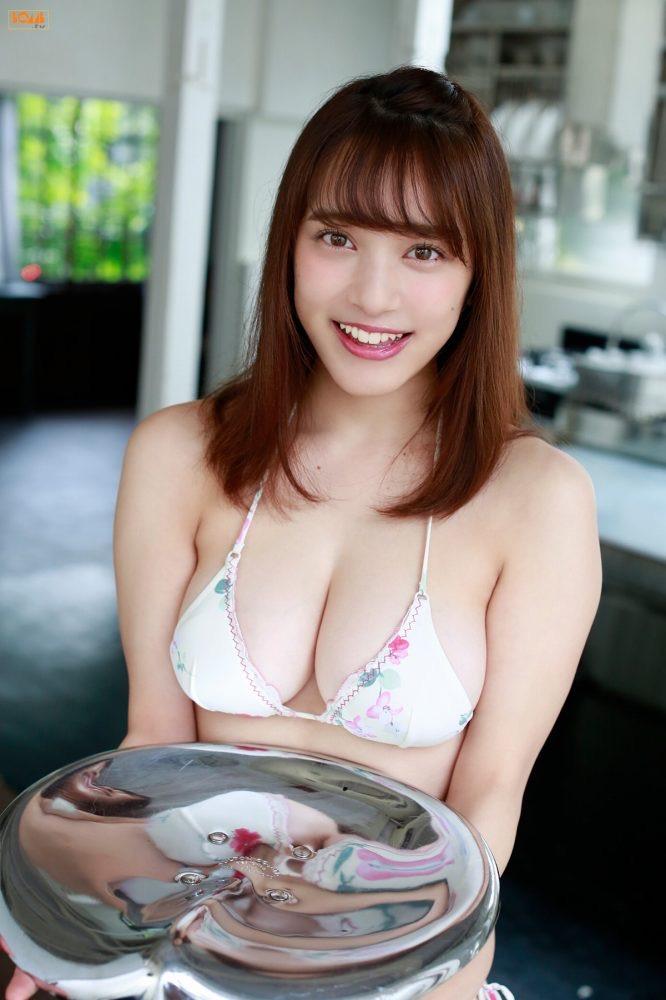 【都丸紗也華グラビア画像】パイズリさせたら気持ち良さそうな柔らかFカップ巨乳! 41