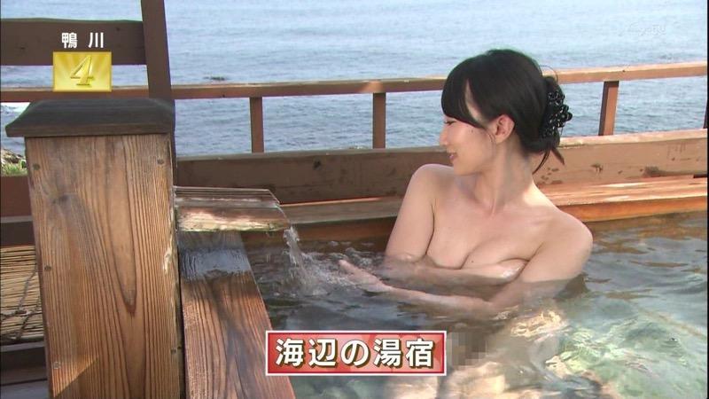 【芸能人温泉キャプチャ画像】あわよくばオッパイポロリ期待できる温泉シーン! 06