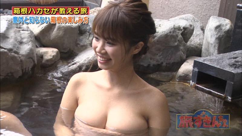 【芸能人温泉キャプチャ画像】あわよくばオッパイポロリ期待できる温泉シーン! 23