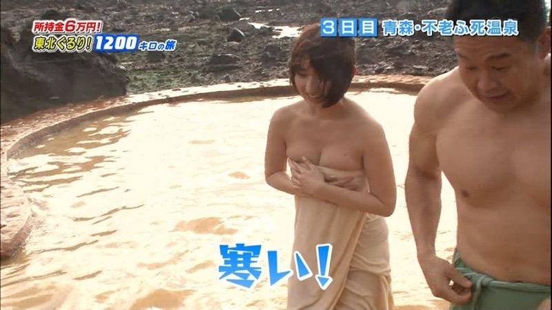 【芸能人温泉キャプチャ画像】あわよくばオッパイポロリ期待できる温泉シーン! 27