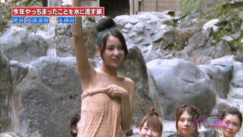 【芸能人温泉キャプチャ画像】あわよくばオッパイポロリ期待できる温泉シーン! 43