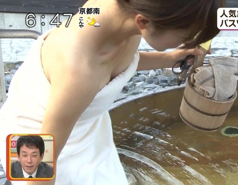 【芸能人温泉キャプチャ画像】あわよくばオッパイポロリ期待できる温泉シーン! 49