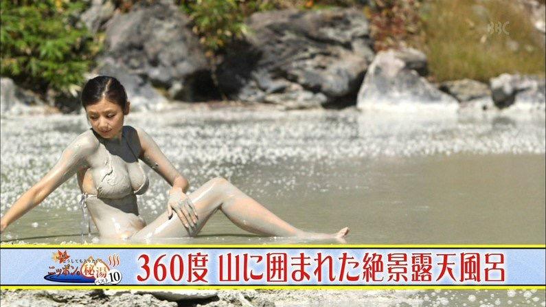 【芸能人温泉キャプチャ画像】あわよくばオッパイポロリ期待できる温泉シーン! 61
