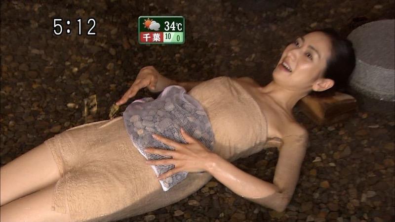 【芸能人温泉キャプチャ画像】あわよくばオッパイポロリ期待できる温泉シーン! 69