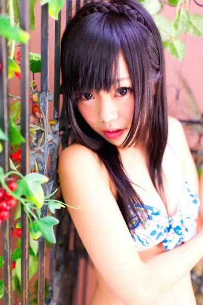 【黒崎れおんアイドル画像】ツインテールが良く似合う童顔萌え娘のコスプレ&水着姿 78