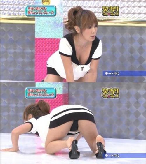 【女子アナハプニング画像】番組中を襲った女子アナたちのエッチなハプニングの瞬間 10