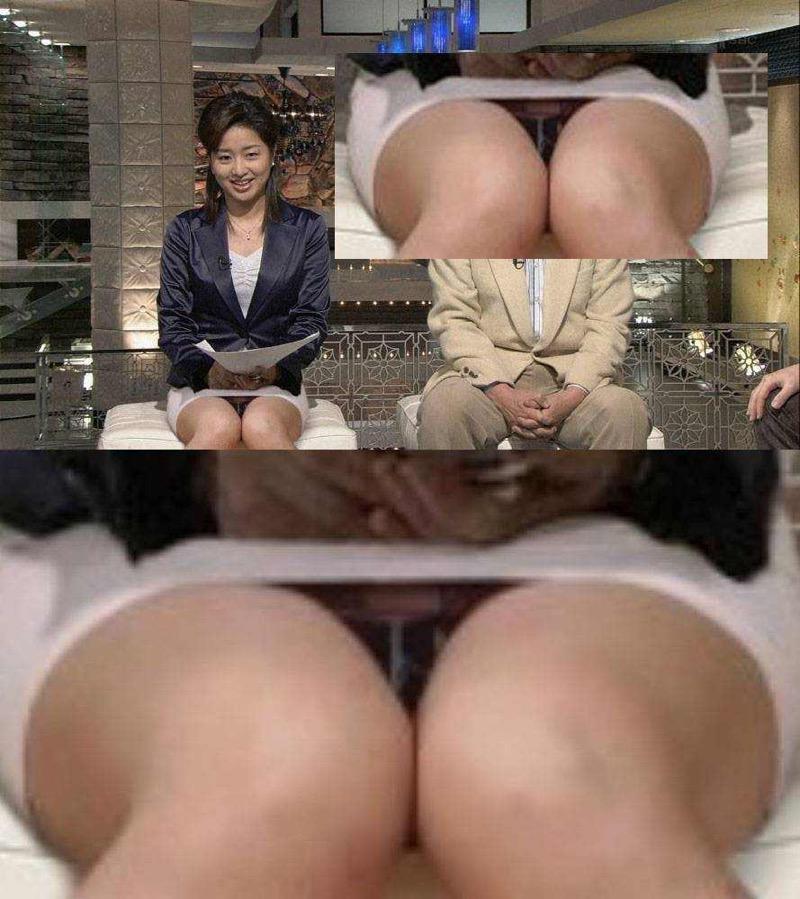【女子アナハプニング画像】番組中を襲った女子アナたちのエッチなハプニングの瞬間 14