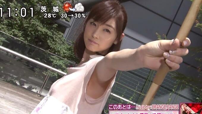 【女子アナハプニング画像】番組中を襲った女子アナたちのエッチなハプニングの瞬間 28