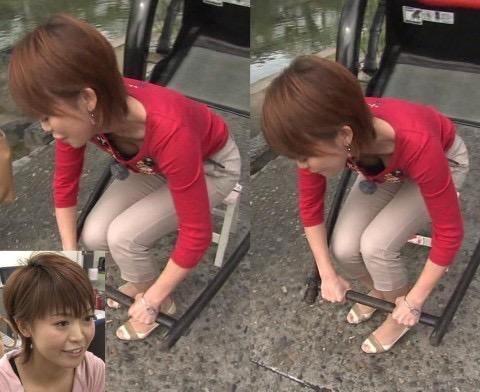 【女子アナハプニング画像】番組中を襲った女子アナたちのエッチなハプニングの瞬間 30