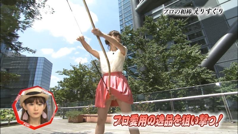 【女子アナハプニング画像】番組中を襲った女子アナたちのエッチなハプニングの瞬間 46