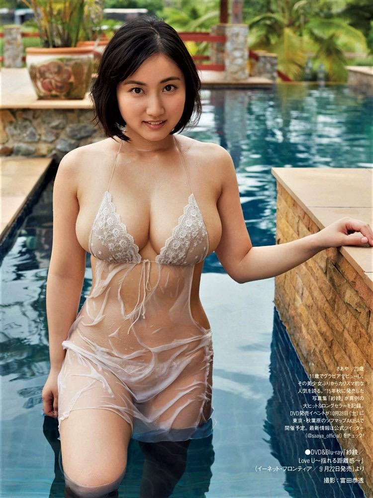 【紗綾グラビア画像】ジュニア時代から活躍した巨乳ボディがエロい水着美女 19