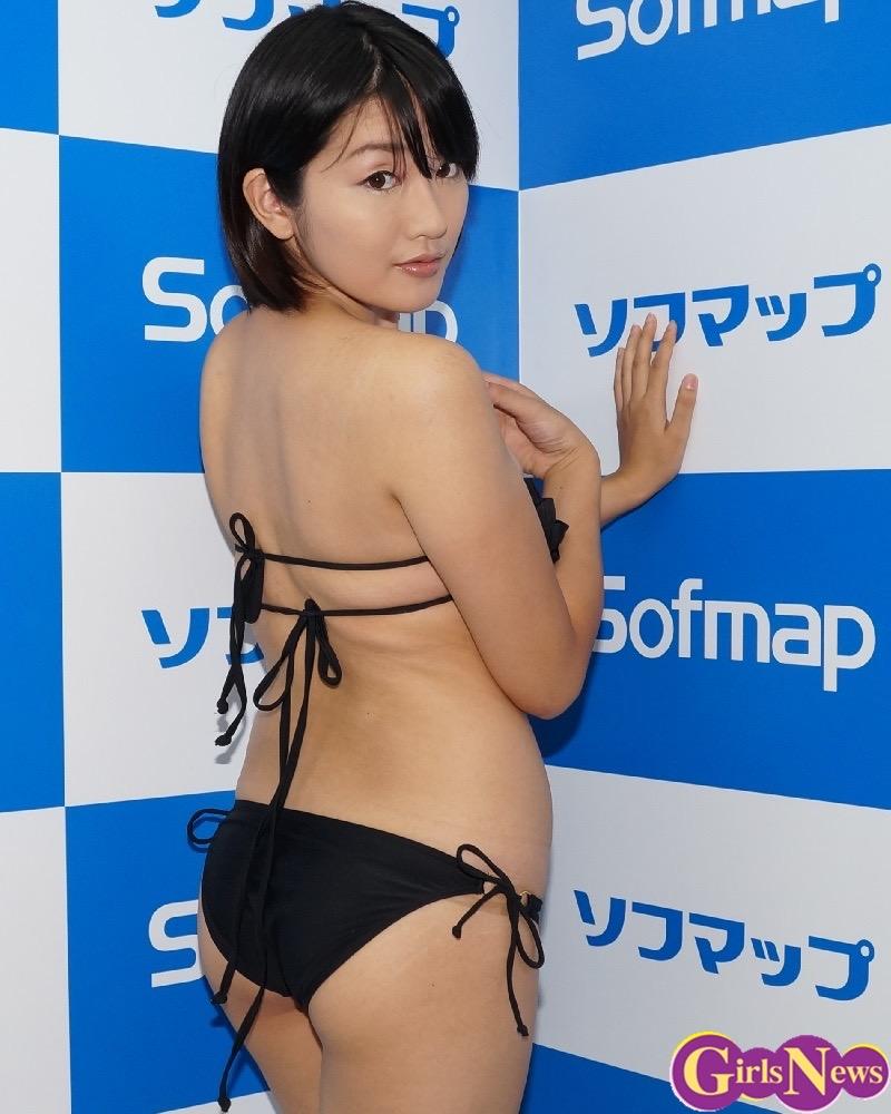 【多田あさみグラビア画像】猫大好きなFカップ巨乳グラドル美女の水着画像 55