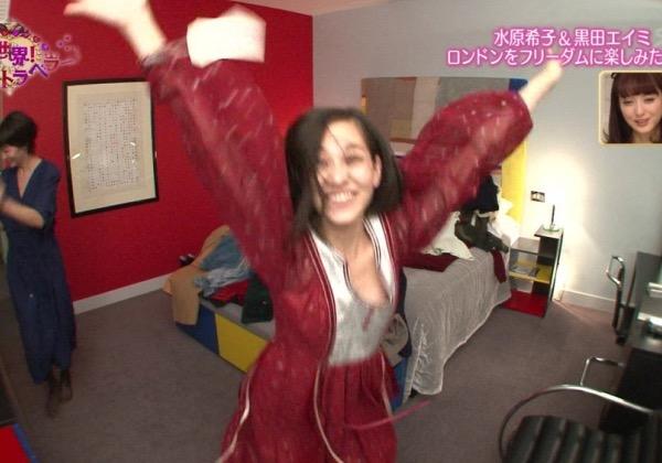 【放送事故エロ画像】テレビに映ったラッキースケベ的なハプニングエロ画像 04