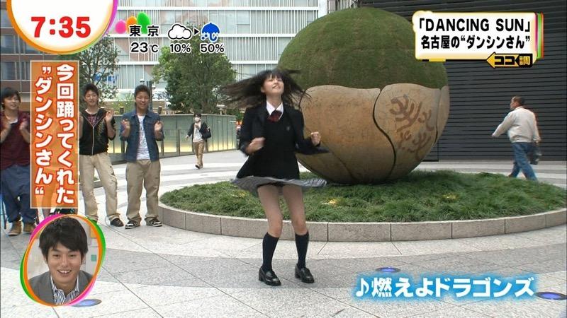 【放送事故エロ画像】テレビに映ったラッキースケベ的なハプニングエロ画像 20