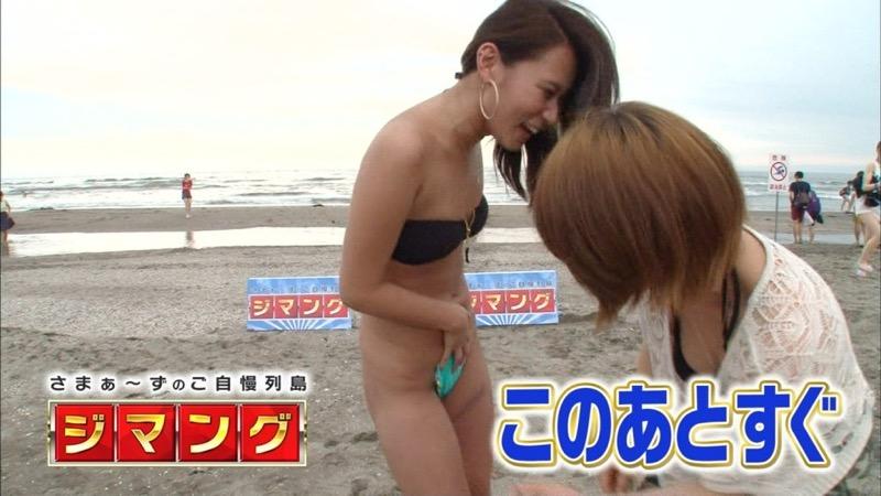 【放送事故エロ画像】テレビに映ったラッキースケベ的なハプニングエロ画像 48