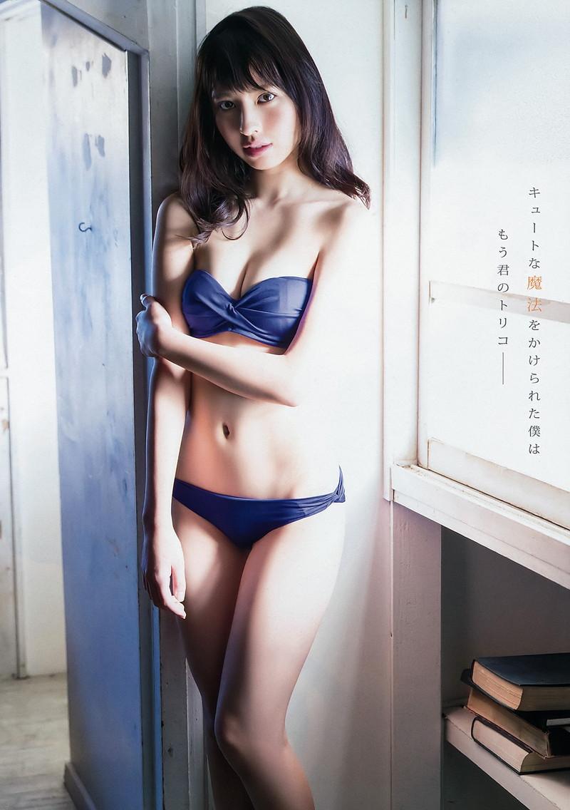 【沖口優奈エロ画像】アイドルグループでリーダーやってる谷間がエロい女の子 28
