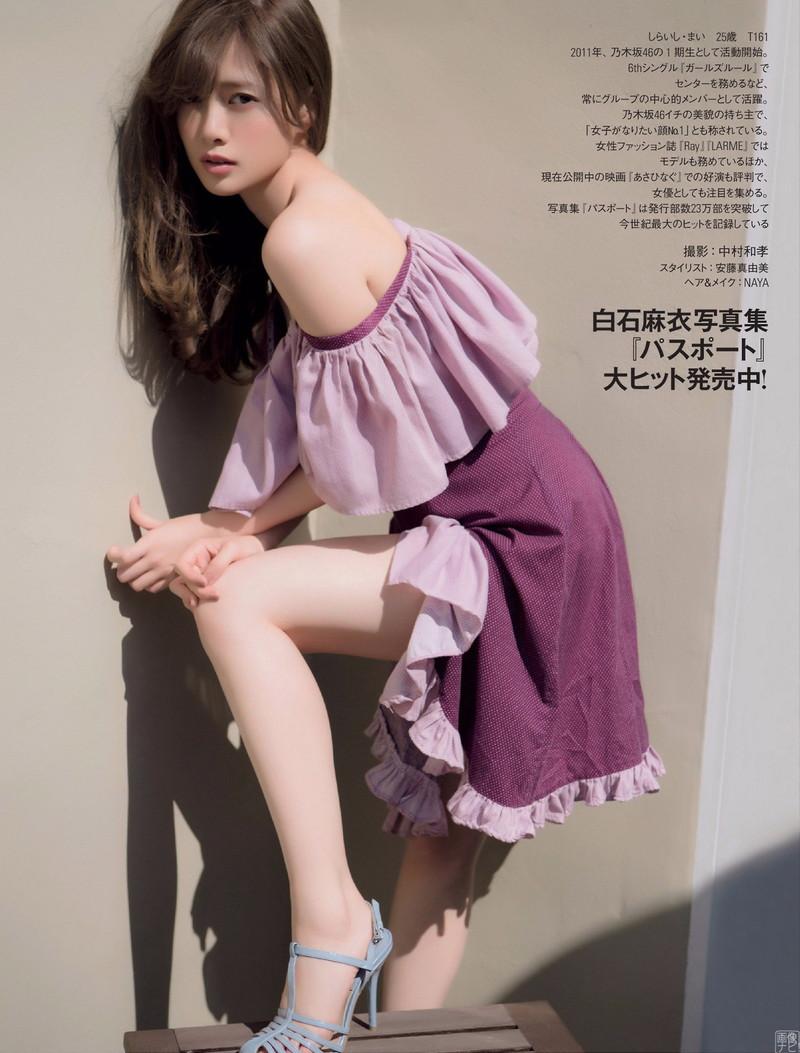 【白石麻衣グラビア画像】ファッションモデルならではの綺麗でエロい下着姿でチンコ勃ったw 52