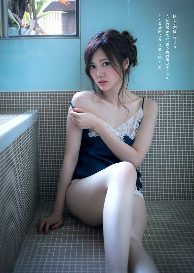 【白石麻衣グラビア画像】ファッションモデルならではの綺麗でエロい下着姿でチンコ勃ったw 77