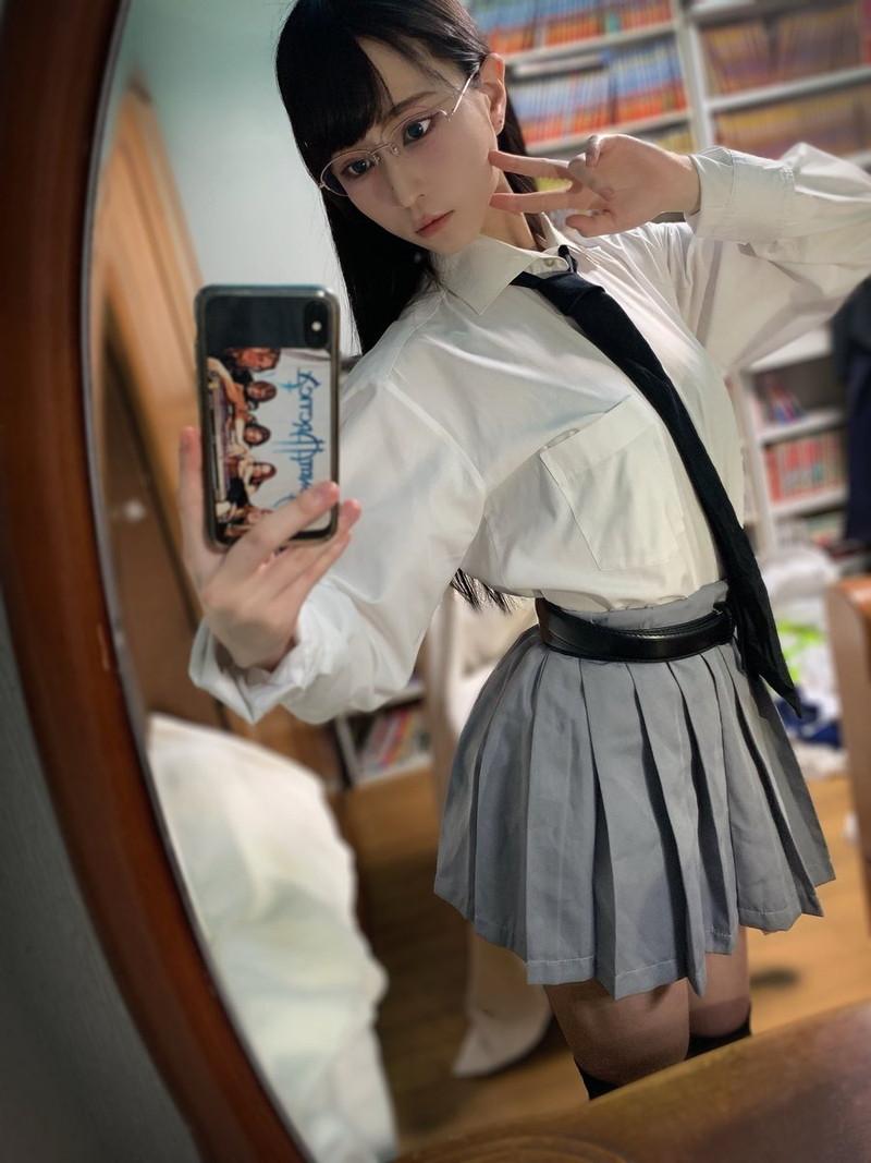 【樹さくらコスプレ画像】グラビアアイドルのエロメガネを自称する女の子がマジで痴女だったwwww 50