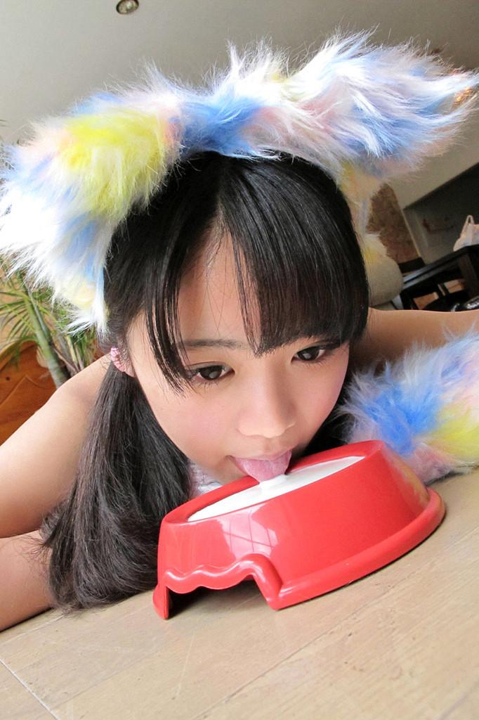 【東江ひかりグラビア画像】童顔アイドルにこんなエロい格好させちゃってチンコ勃つわwwww 46