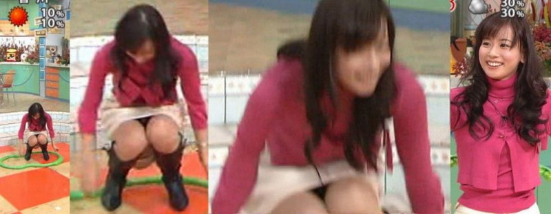 【放送事故画像】胸チラやブラチラといつでもエロを狙われて出演女性は大変だなぁw 03