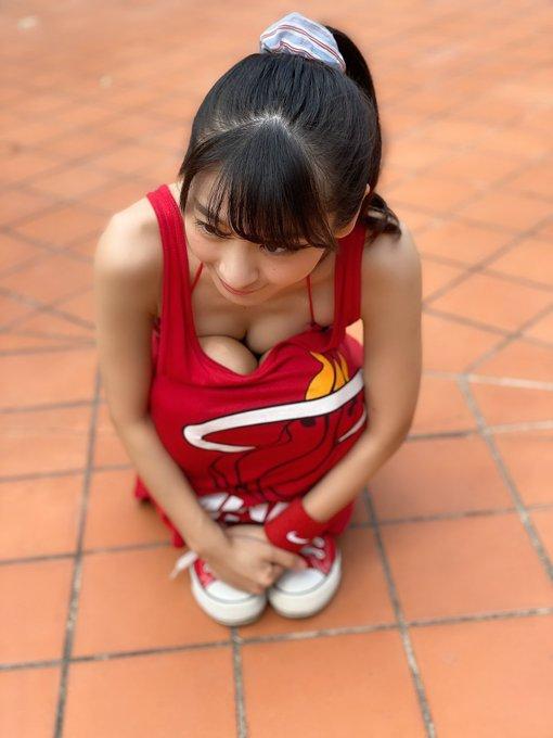 【牧野澪菜エロ画像】身長144cmでDカップって結構スケベなカラダしてるんじゃないの~? 04