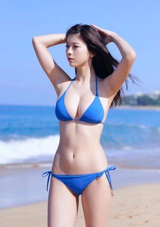 【馬場ふみかグラビア画像】Fカップ巨乳にクビレ腰のスーパー激エロビキニボディ! 38