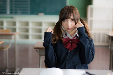 【美少女制服画像】見ているだけで癒やされる美少女アイドルの学校制服姿に萌えた 68