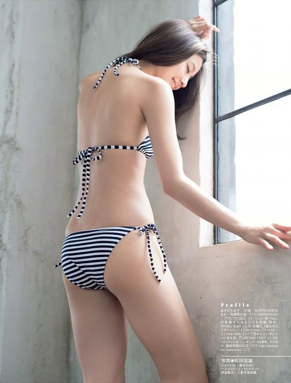 【朝比奈彩グラビア画像】ファッションモデルらしいスタイル抜群な長身ボディが映える! 17