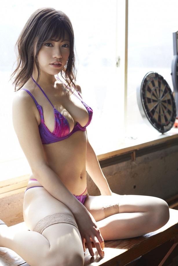 【大澤玲美グラビア画像】Fカップセクシーボディに笑顔がキュートなグラビア美女 19