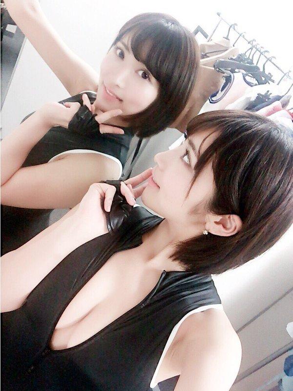 【桐生美希エロ画像】Gカップの谷間がエッチなショートヘア美女の着衣おっぱい 48