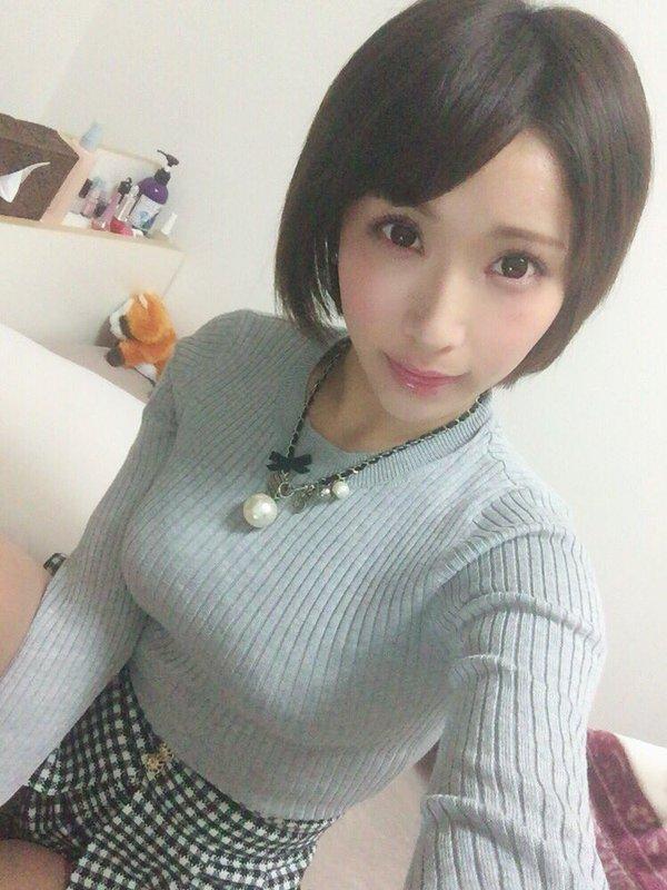 【桐生美希エロ画像】Gカップの谷間がエッチなショートヘア美女の着衣おっぱい 52