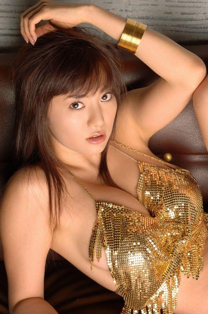 【海江田純子グラビア画像】Gカップバストにくびれウエストの曲線ボディがエロい! 36