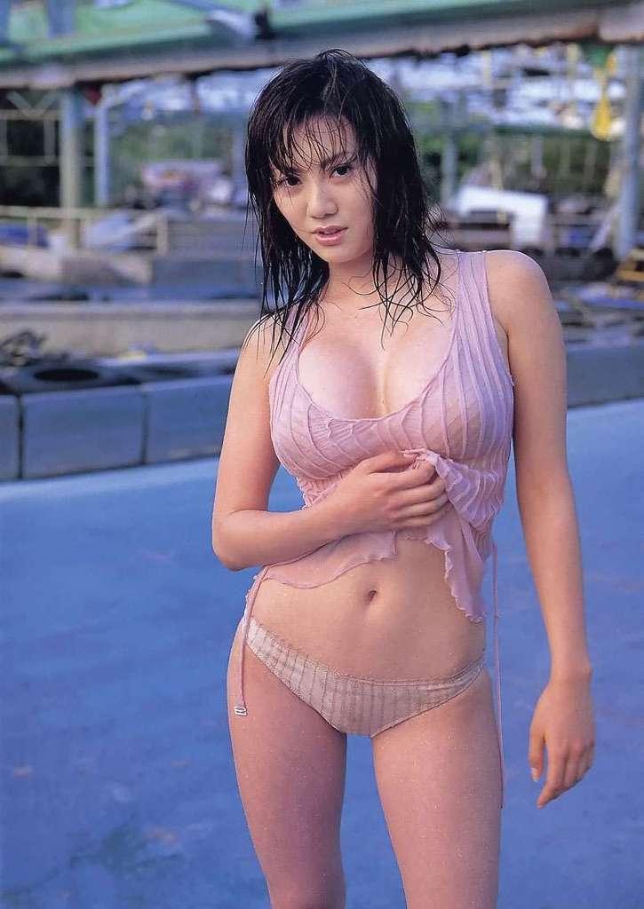 【海江田純子グラビア画像】Gカップバストにくびれウエストの曲線ボディがエロい! 65