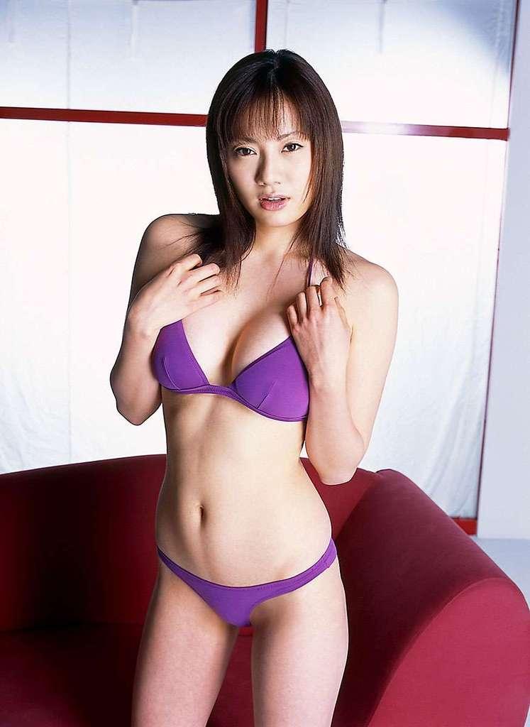 【海江田純子グラビア画像】Gカップバストにくびれウエストの曲線ボディがエロい! 76