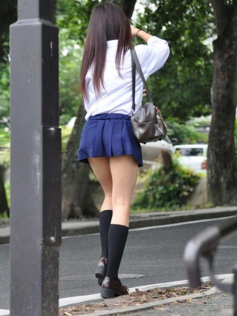 【夏服JK画像】白いブラウスから薄っすらと透けて見えるブラって良いよね 46
