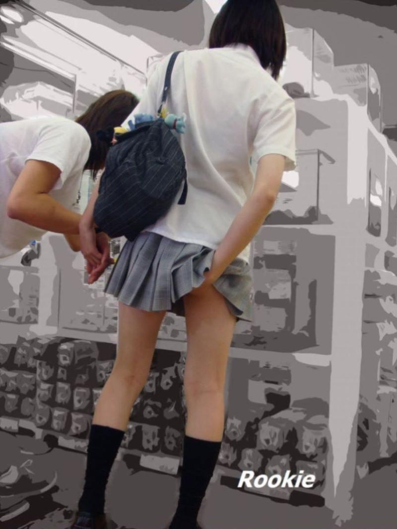 【夏服JK画像】白いブラウスから薄っすらと透けて見えるブラって良いよね 58